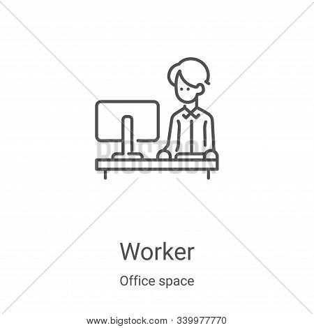worker icon isolated on white background from office space collection. worker icon trendy and modern