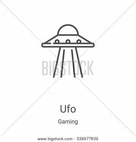 ufo icon isolated on white background from gaming collection. ufo icon trendy and modern ufo symbol