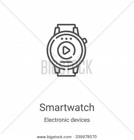 smartwatch icon isolated on white background from electronic devices collection. smartwatch icon tre