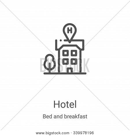 hotel icon isolated on white background from bed and breakfast collection. hotel icon trendy and mod