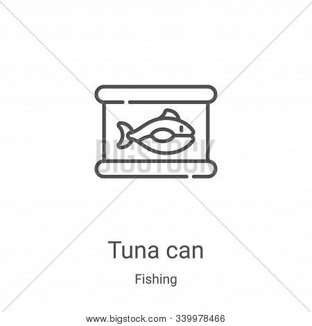 tuna can icon isolated on white background from fishing collection. tuna can icon trendy and modern