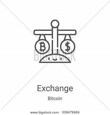 exchange icon isolated on white background from bitcoin collection. exchange icon trendy and modern