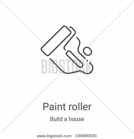 paint roller icon isolated on white background from build a house collection. paint roller icon tren