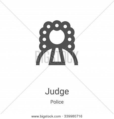 judge icon isolated on white background from police collection. judge icon trendy and modern judge s