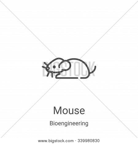 mouse icon isolated on white background from bioengineering collection. mouse icon trendy and modern
