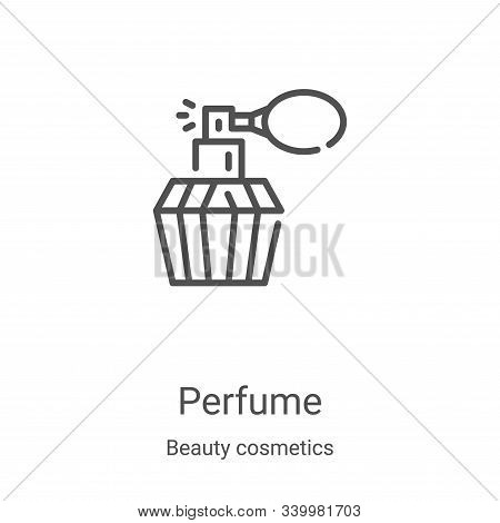 perfume icon isolated on white background from beauty cosmetics collection. perfume icon trendy and