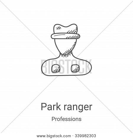 park ranger icon isolated on white background from professions collection. park ranger icon trendy a