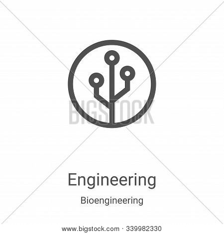 engineering icon isolated on white background from bioengineering collection. engineering icon trend