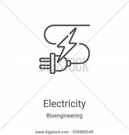 electricity icon isolated on white background from bioengineering collection. electricity icon trend