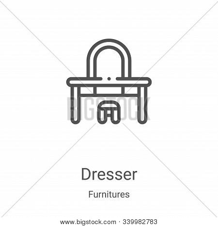dresser icon isolated on white background from furnitures collection. dresser icon trendy and modern