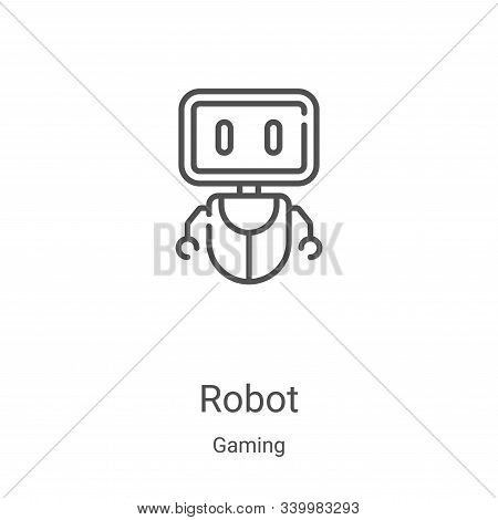 robot icon isolated on white background from gaming collection. robot icon trendy and modern robot s