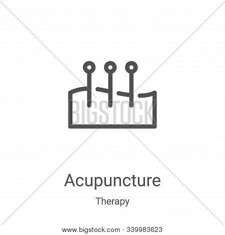 acupuncture icon isolated on white background from therapy collection. acupuncture icon trendy and m