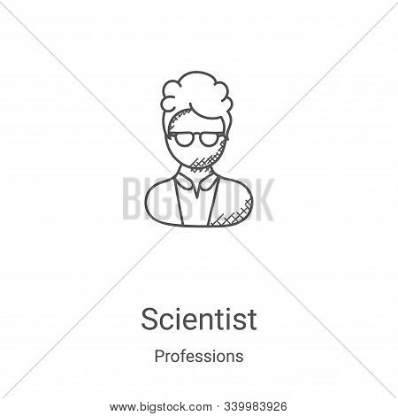 scientist icon isolated on white background from professions collection. scientist icon trendy and m
