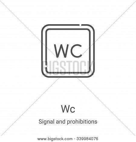 wc icon isolated on white background from signal and prohibitions collection. wc icon trendy and mod