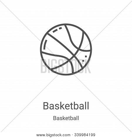 basketball icon isolated on white background from basketball collection. basketball icon trendy and