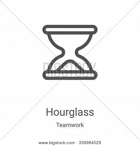 hourglass icon isolated on white background from teamwork collection. hourglass icon trendy and mode