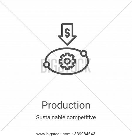 production icon isolated on white background from sustainable competitive advantage collection. prod