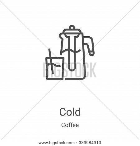 cold icon isolated on white background from coffee collection. cold icon trendy and modern cold symb