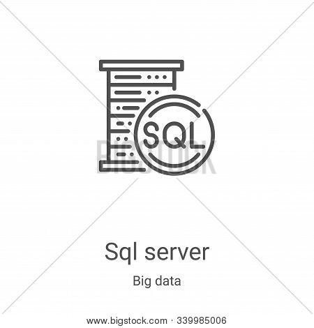 sql server icon isolated on white background from big data collection. sql server icon trendy and mo