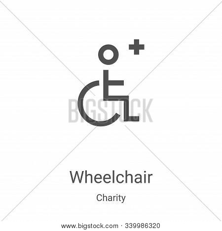 wheelchair icon isolated on white background from charity collection. wheelchair icon trendy and mod