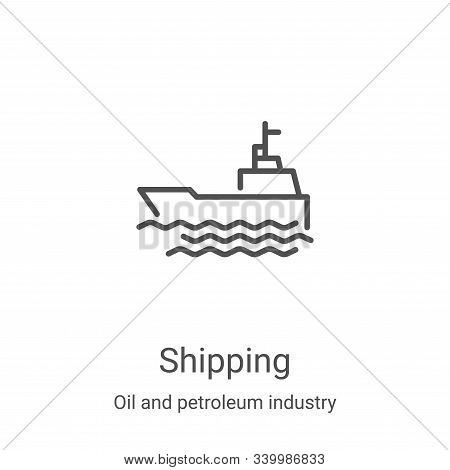 shipping icon isolated on white background from oil and petroleum industry collection. shipping icon