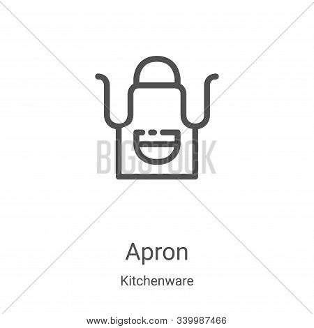 apron icon isolated on white background from kitchenware collection. apron icon trendy and modern ap