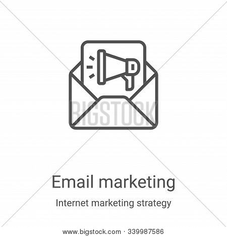 email marketing icon isolated on white background from internet marketing strategy collection. email