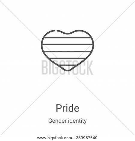 pride icon isolated on white background from gender identity collection. pride icon trendy and moder
