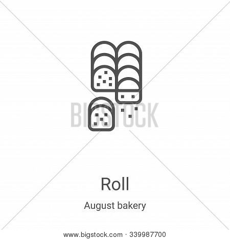 roll icon isolated on white background from august bakery collection. roll icon trendy and modern ro