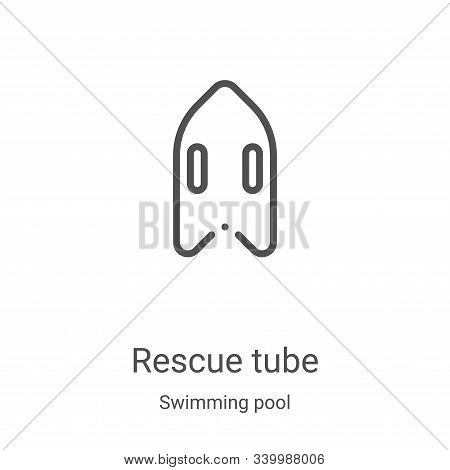 rescue tube icon isolated on white background from swimming pool collection. rescue tube icon trendy