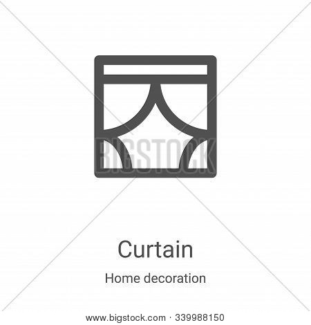 curtain icon isolated on white background from home decoration collection. curtain icon trendy and m