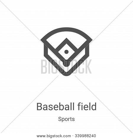 baseball field icon isolated on white background from sports collection. baseball field icon trendy