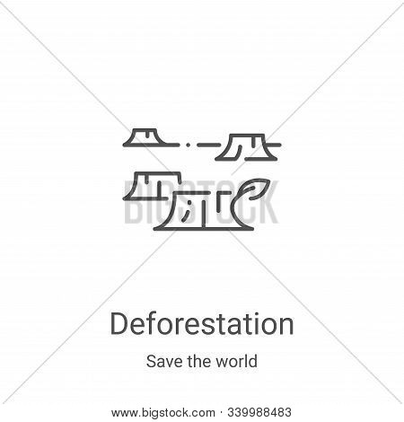 deforestation icon isolated on white background from save the world collection. deforestation icon t