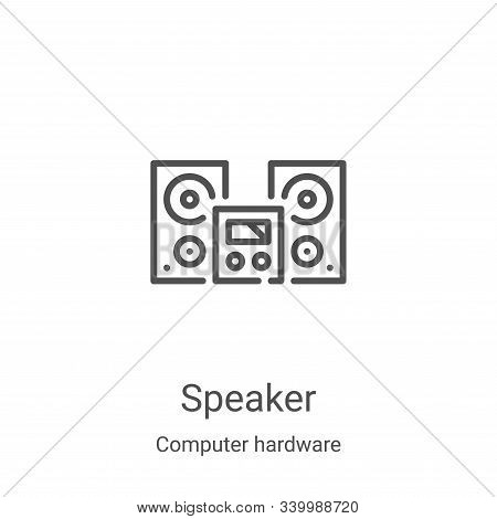 speaker icon isolated on white background from computer hardware collection. speaker icon trendy and