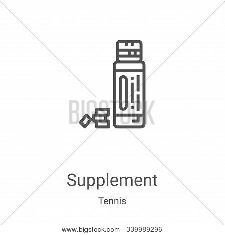supplement icon isolated on white background from tennis collection. supplement icon trendy and mode