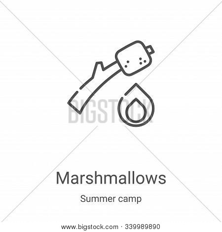 marshmallows icon isolated on white background from summer camp collection. marshmallows icon trendy