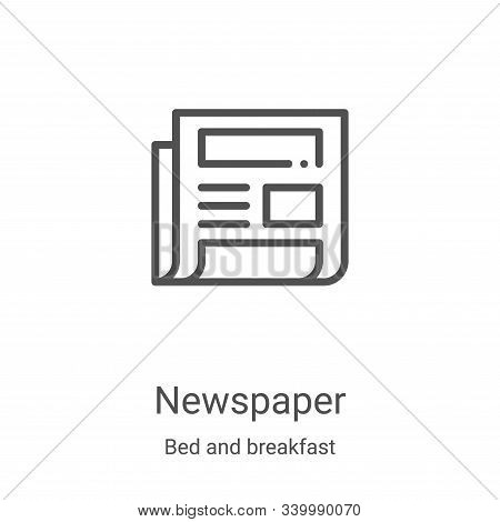 newspaper icon isolated on white background from bed and breakfast collection. newspaper icon trendy