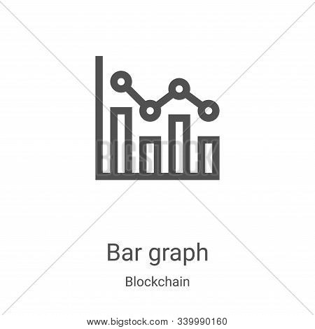 bar graph icon isolated on white background from blockchain collection. bar graph icon trendy and mo
