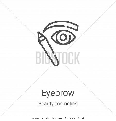 eyebrow icon isolated on white background from beauty cosmetics collection. eyebrow icon trendy and