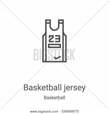 basketball jersey icon isolated on white background from basketball collection. basketball jersey ic