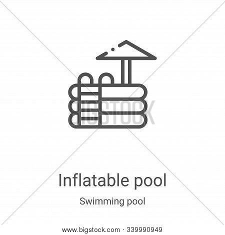 inflatable pool icon isolated on white background from swimming pool collection. inflatable pool ico