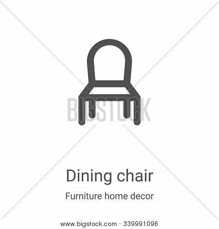 dining chair icon isolated on white background from furniture home decor collection. dining chair ic