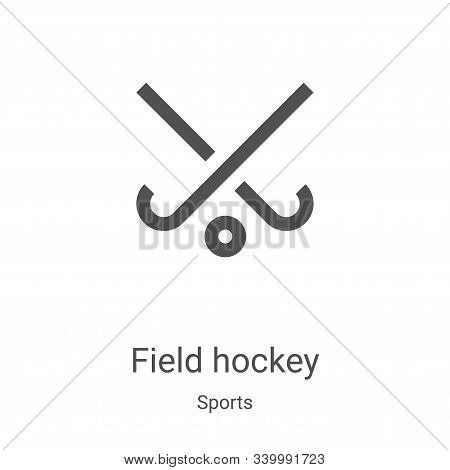 field hockey icon isolated on white background from sports collection. field hockey icon trendy and