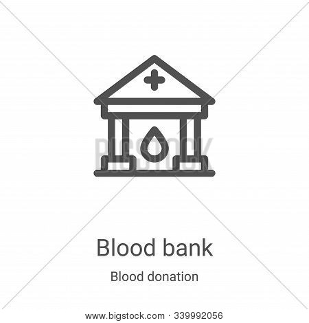 blood bank icon isolated on white background from blood donation collection. blood bank icon trendy