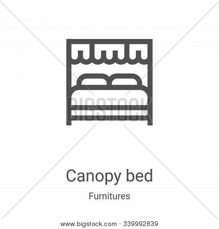 canopy bed icon isolated on white background from furnitures collection. canopy bed icon trendy and