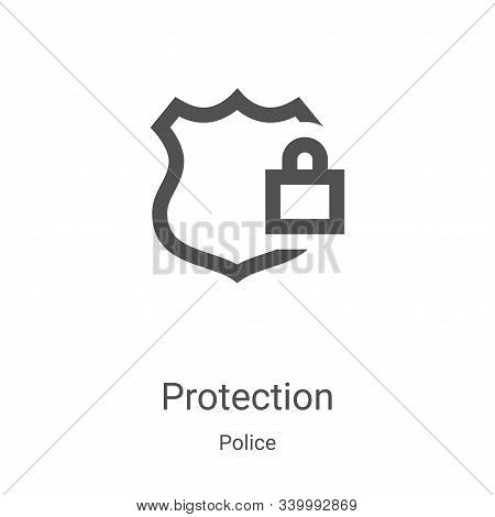 protection icon isolated on white background from police collection. protection icon trendy and mode