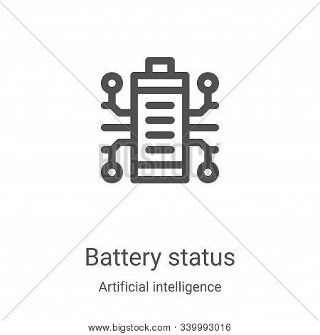 battery status icon isolated on white background from artificial intelligence collection. battery st