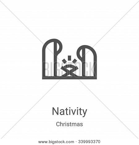 nativity icon isolated on white background from christmas collection. nativity icon trendy and moder