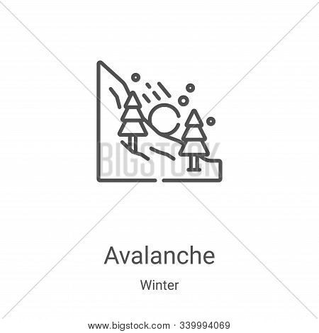 avalanche icon isolated on white background from winter collection. avalanche icon trendy and modern