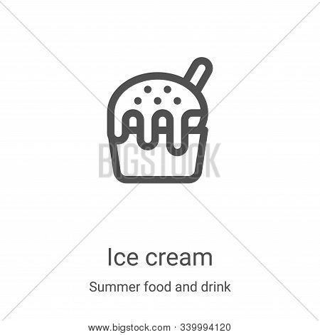 ice cream icon isolated on white background from summer food and drink collection. ice cream icon tr